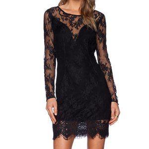 Lovers + Friends Cinema Bodycon Dress | Black Lace